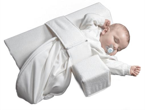 Seitenansicht Seitenlagerungsschiene VARILAG - Alternative zu Babykopfkissen