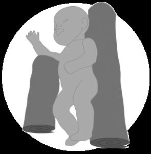 Baby Lagerung Handtuchrollen