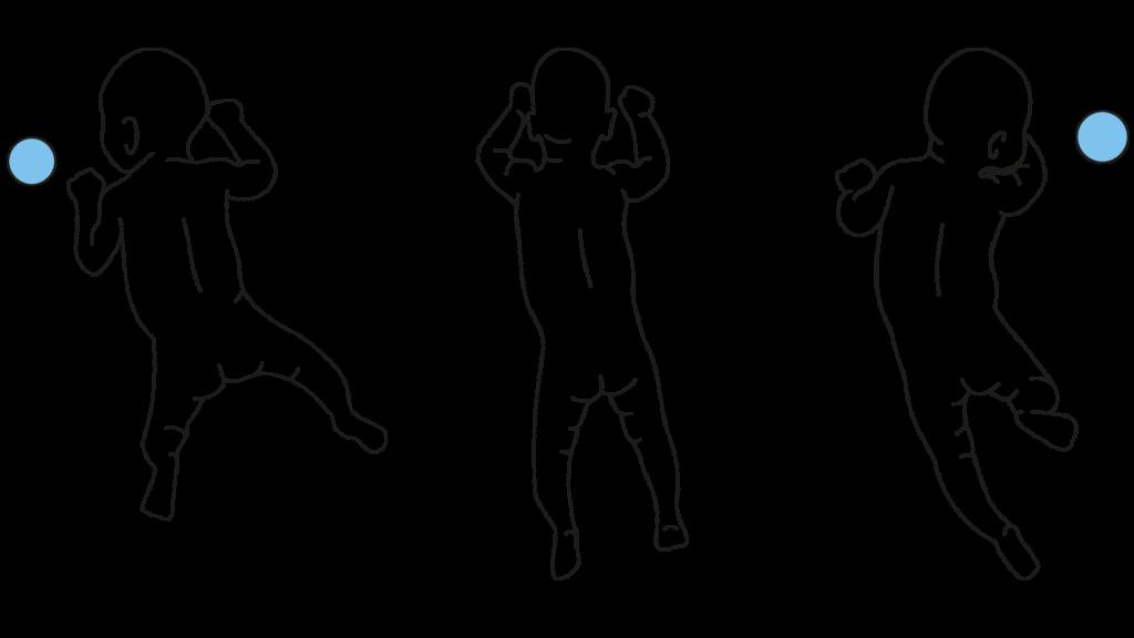 Beurteilung reaktiver Bewegungsmuster Bauchlage