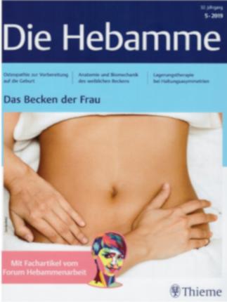 Artikel uit het tijdschrift Die Hebamme uitgegeven door Thieme Verlag